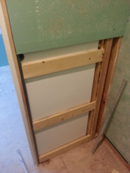 one spot we need to finish on the inside part of the pocket door