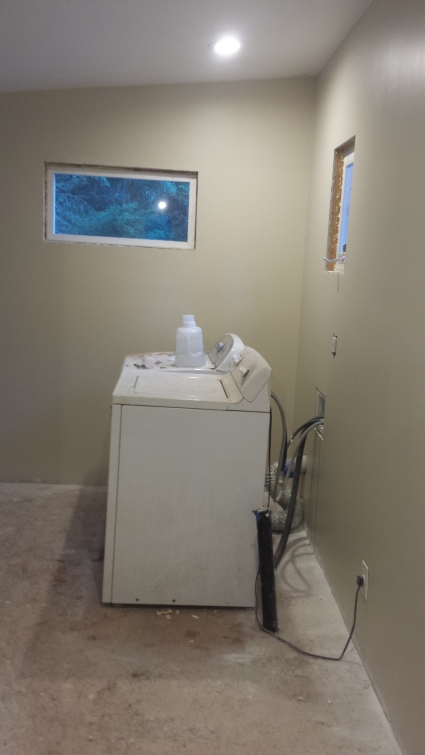 the laundry/mud room