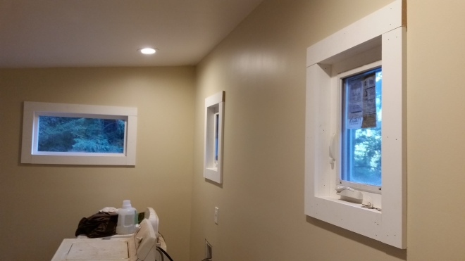 my dad did window trim yesterday- looks great!