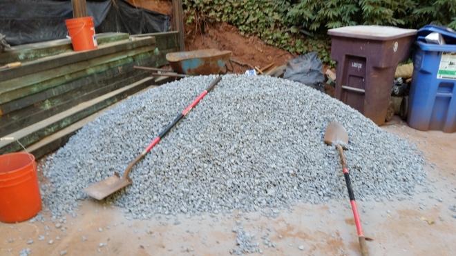 3 yards of drain rock