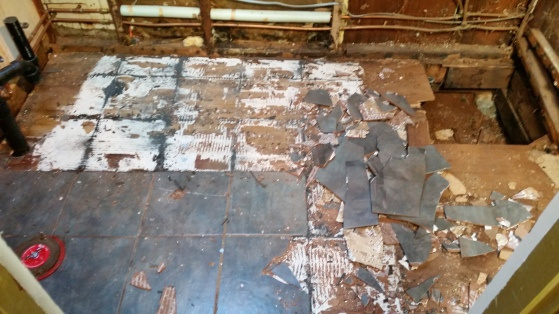 tile's coming off!