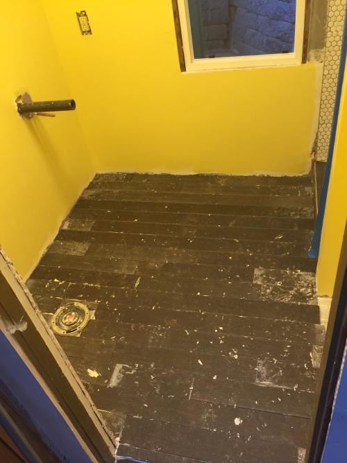 tile floor is in!