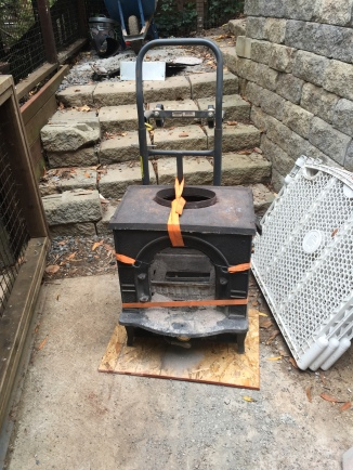 wood stove going bye-bye